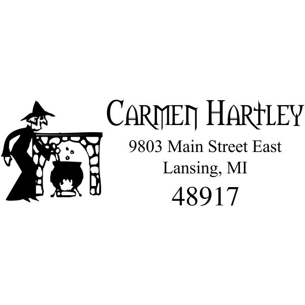 Witches Brew Halloween Address Stamp
