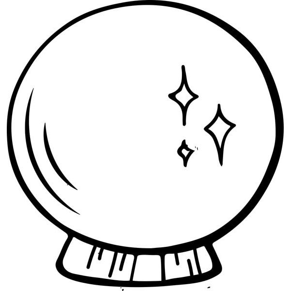 "Crystal Ball Halloween Craft Stamp | 2"" x 2"""
