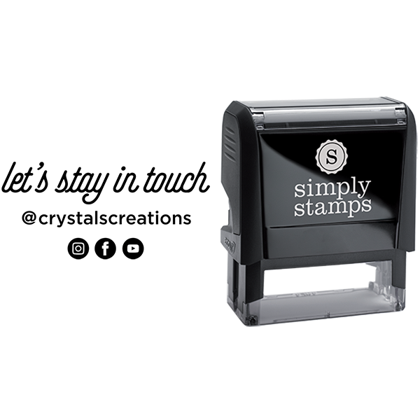 Let's Stay in Touch Custom Social Media Business Stamp
