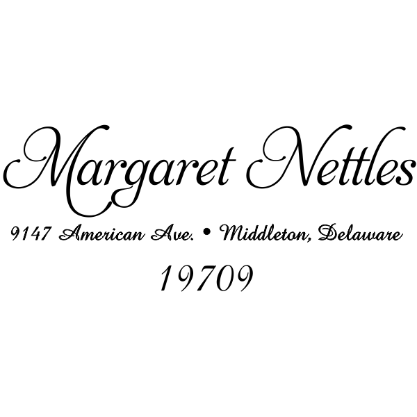 Nettles Handwritten Return Address Stamper