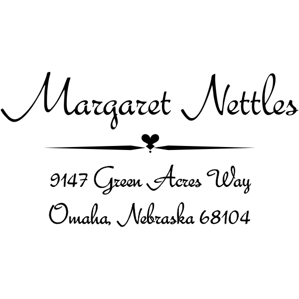 Nettles Deco Handwritten Address Stamp