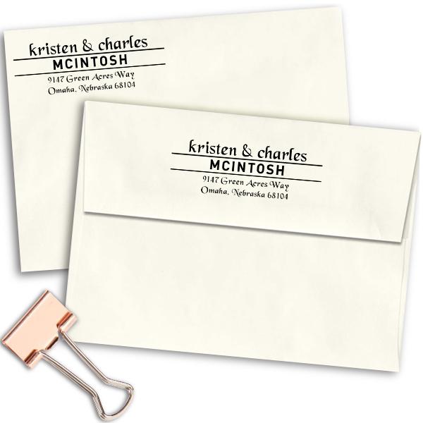 Mcintosh Handwritten Address Stamp Imprint Examples on Envelopes