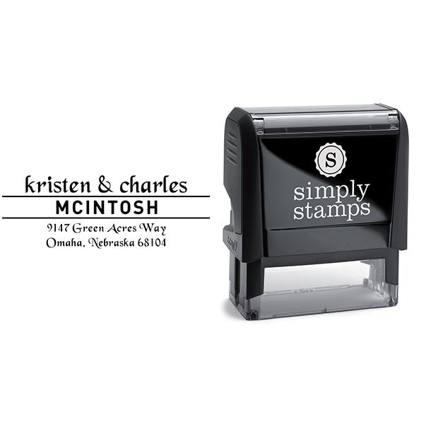 Mcintosh Handwritten Address Stamp Body and Imprint