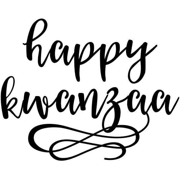 "Happy Kwanzaa Craft Stamp   | 2"" x 2"""