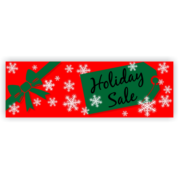 Holiday Sale Banner   2' x 6'