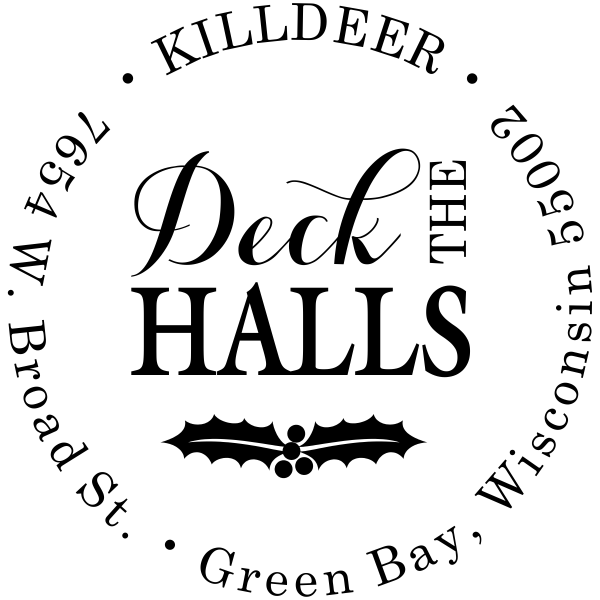 Deck the Halls Return Address Stamp