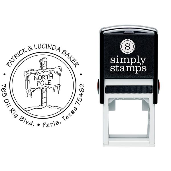 North Pole Return Address Stamp Body and Design