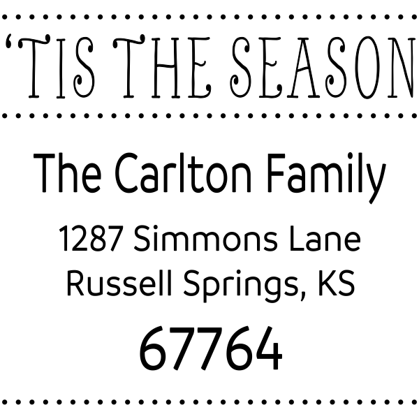 Tis The Season Return Address Stamp