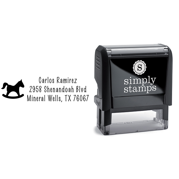 Rocking Horse Address Stamp Body and Design
