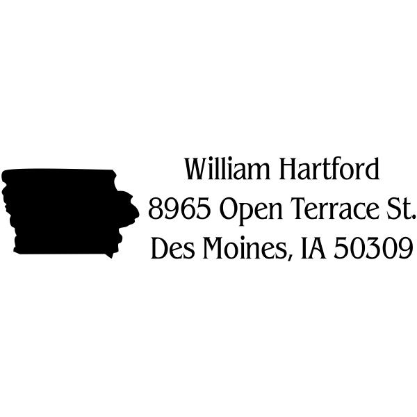 Iowa Return Address State Address Stamp