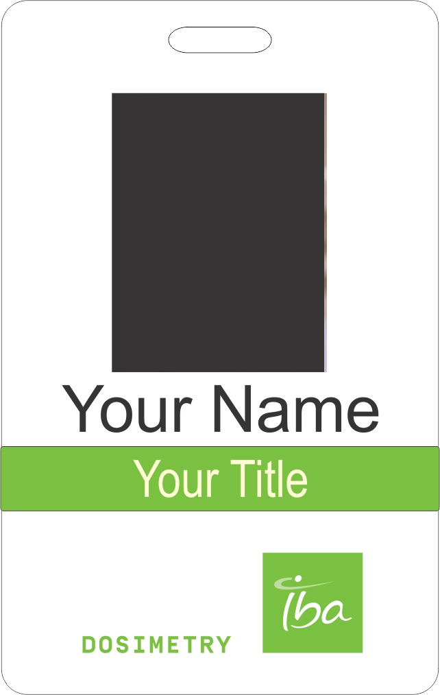 IBA Dosimetry ID Badge