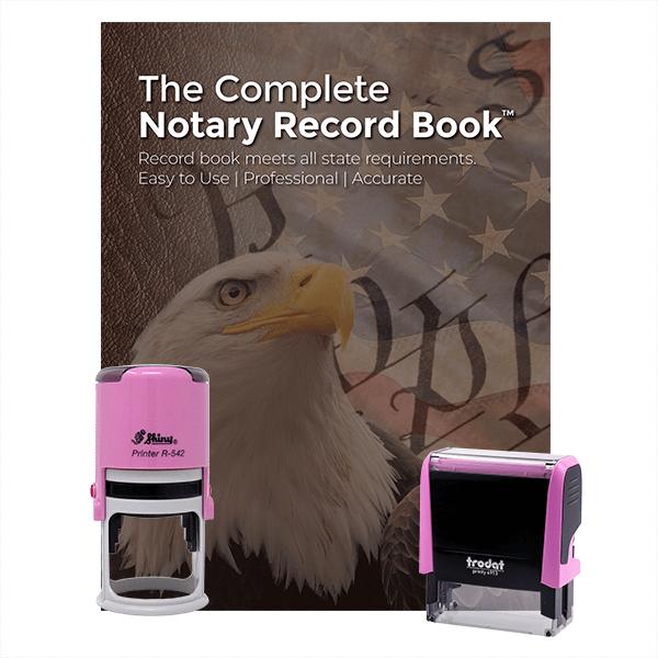 Iowa Pink Value Notary Kit