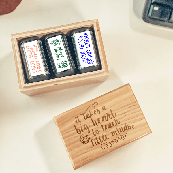 It Takes a Big Heart Teacher Stamp Box Set