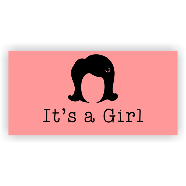 Its A Girl Wig Banner - 2' x 4'