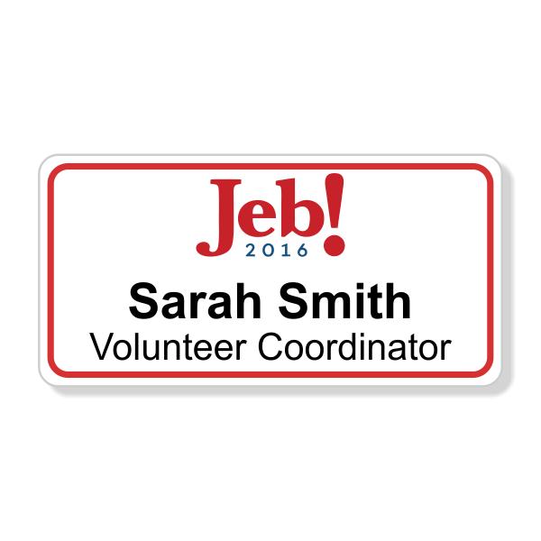 Jeb Bush Presidential Name Tag