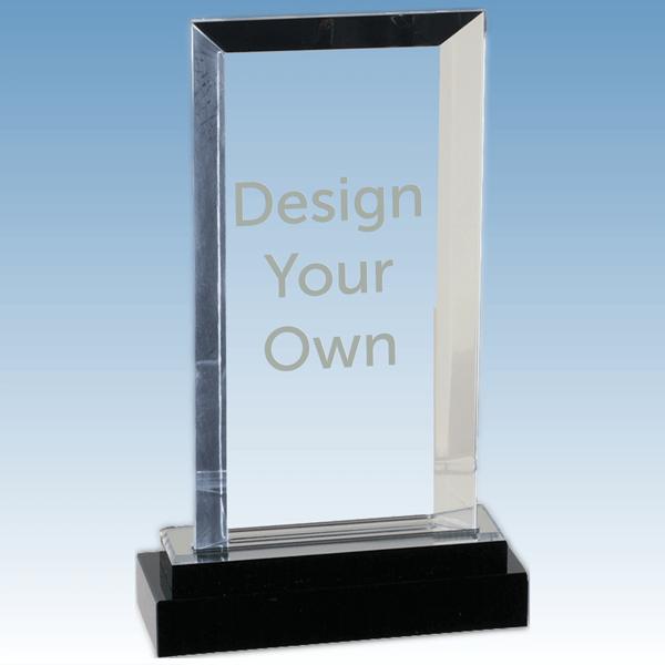 iMP121S - Jewel Bevel Acrylic Award with Gloss Black Base