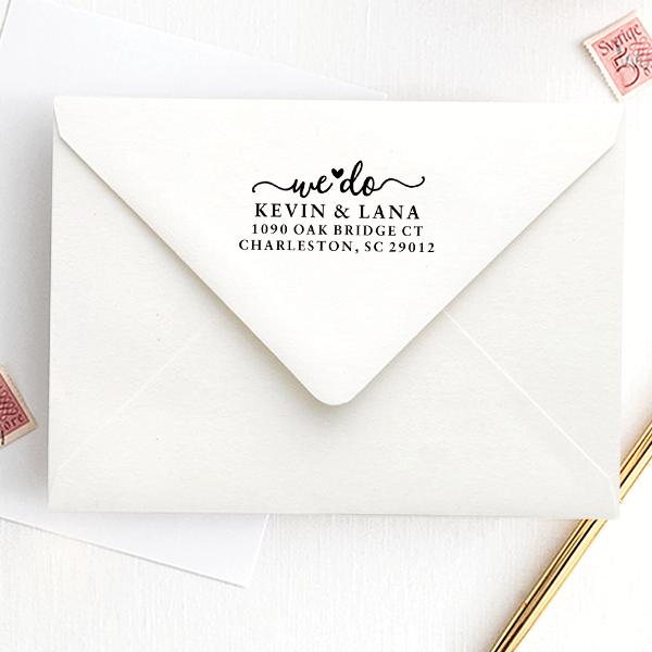 We Do' Wedding Address Stamp