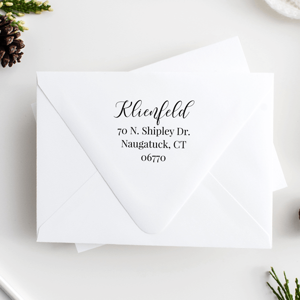 Klienfeld Script Return Address Stamp