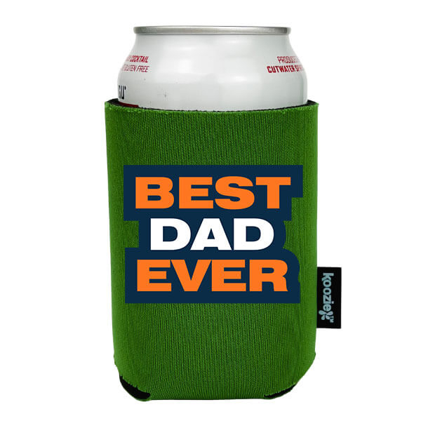 Koozie® Orange & Navy Best Dad Ever Drink Cooler