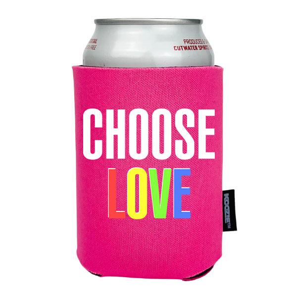 Koozie® Choose Love Pride Drink Cooler