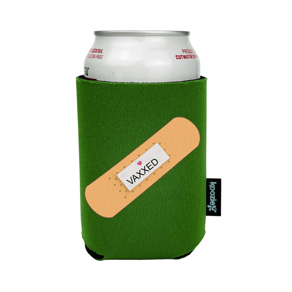 Koozie® Vaxxed with Bandaid Full Color Drink Cooler