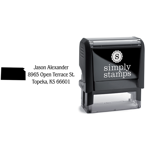 Kansas Return Address Stamp Body and Design