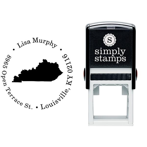 Kentucky Round Address Stamp Body and Design