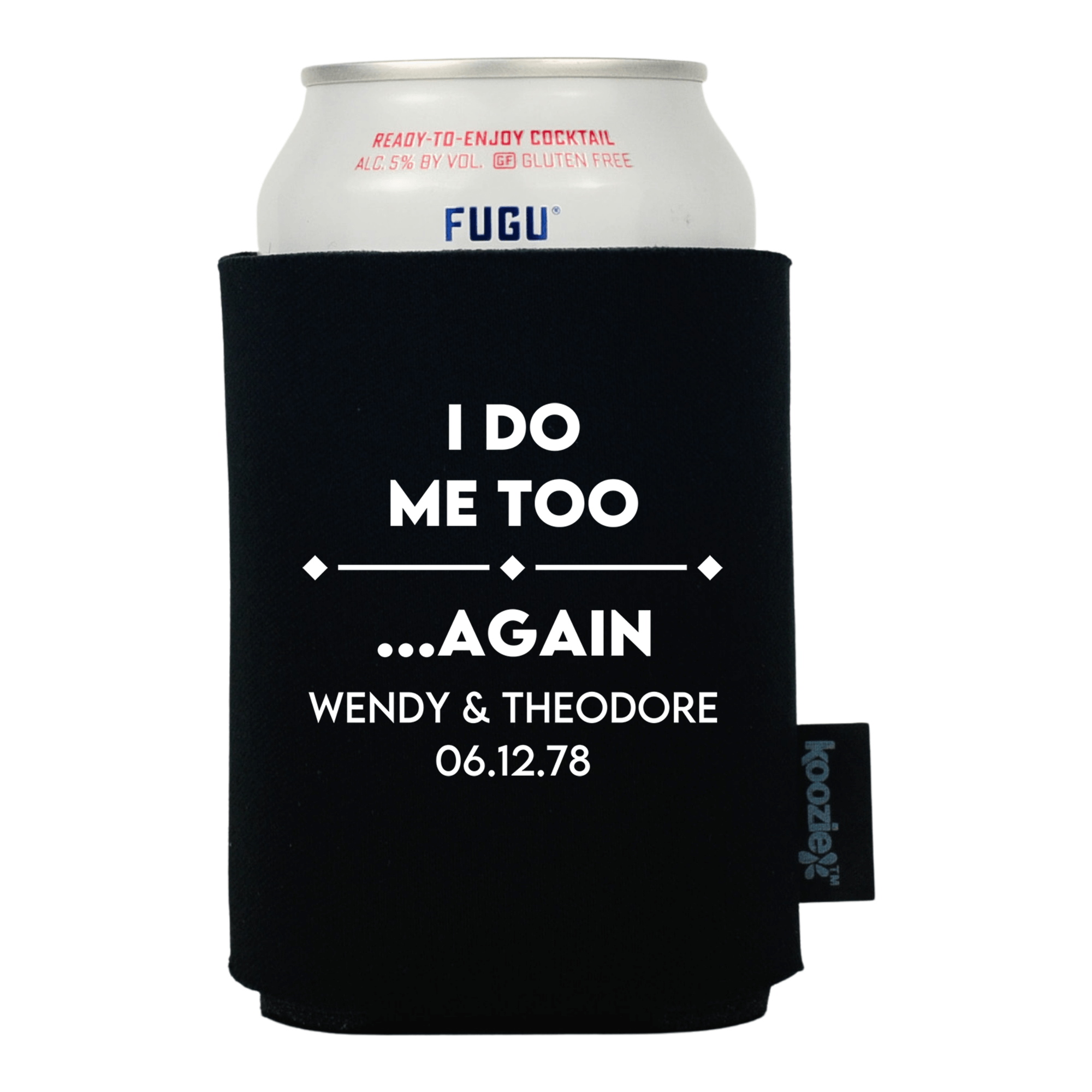 Koozie® I Do Again Anniversary Drink cooler