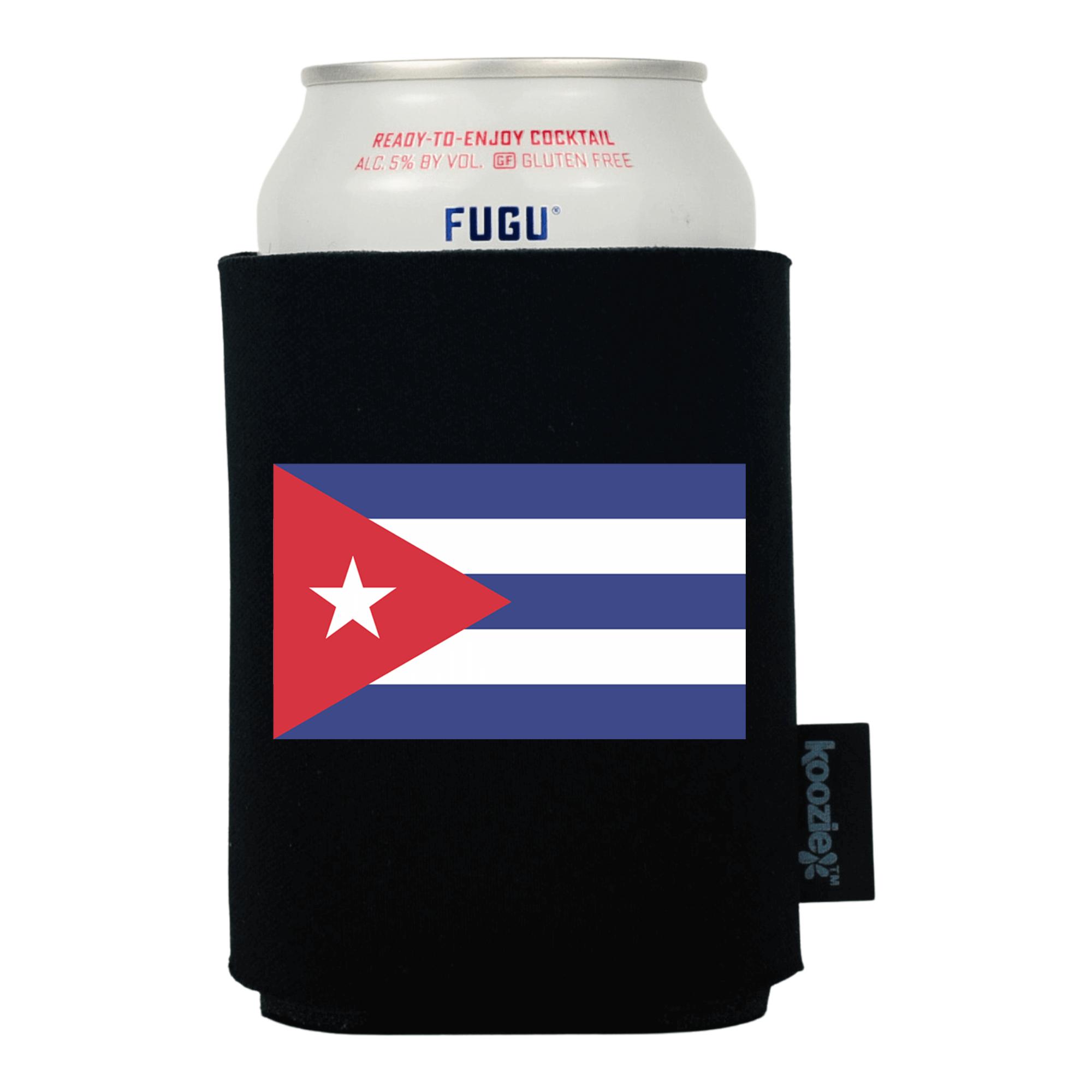 Koozie® Cuba Country Flag Drink Cooler