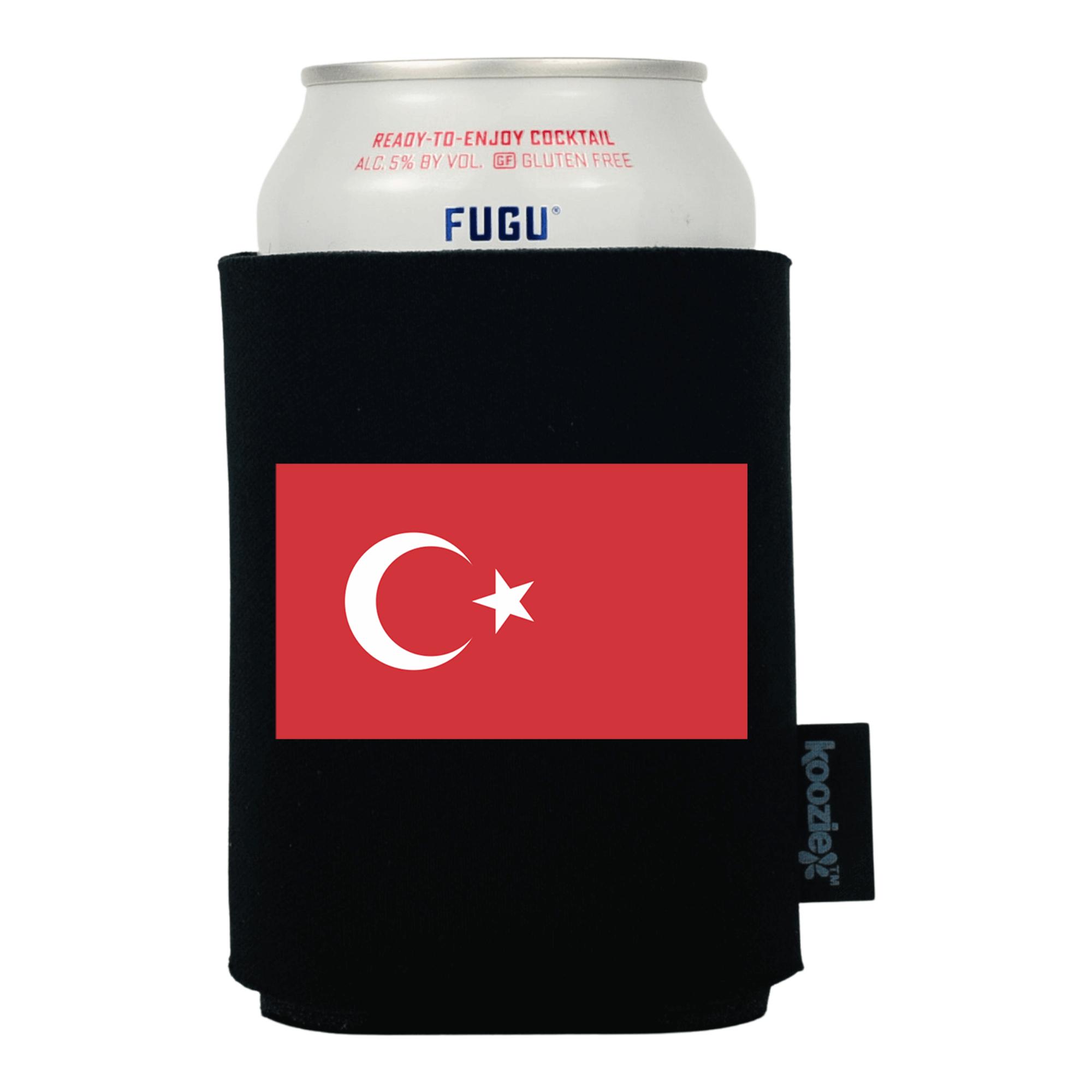 Koozie® Turkey Country Flag Drink Cooler