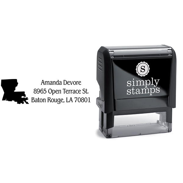 Louisiana Return Address Stamp Body and Design