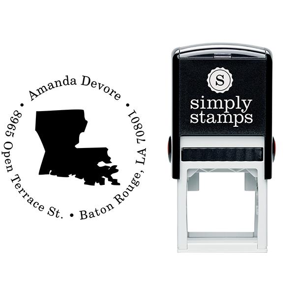 Louisiana Round Address Stamp Body and Design