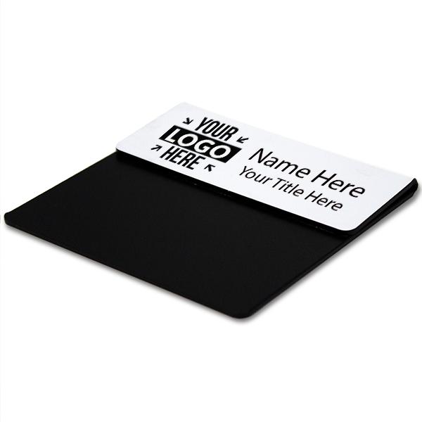 """Laser Engraved Pocket Badge - 1.25"""" x 3"""" Corner Angle"""