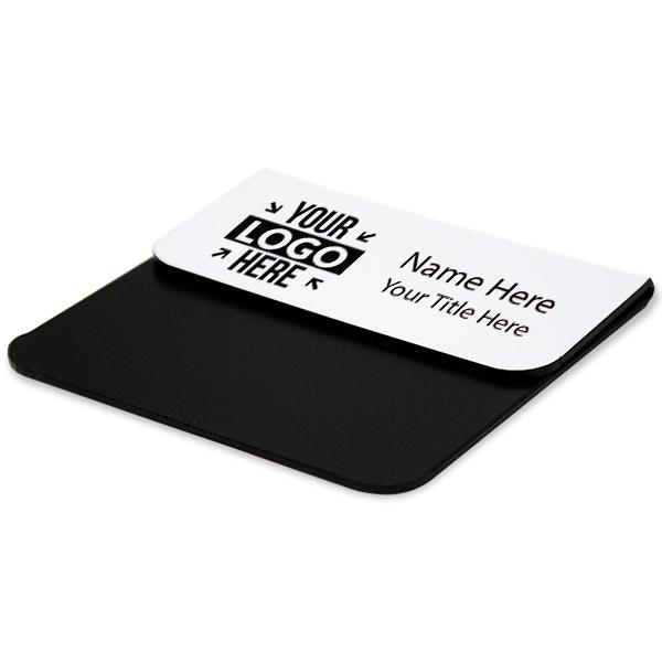 """Laser Engraved Pocket Badge - 1.5"""" x 3"""" Corner Angle"""