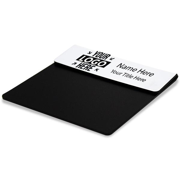 """Laser Engraved Pocket Badge - 1"""" x 3"""" Corner Angle"""