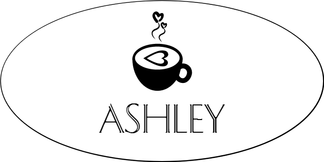 Latte Art Mug Coffee Shop Oval Name Tag