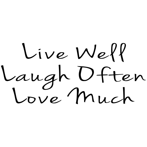 Live Well Rubber Stamp