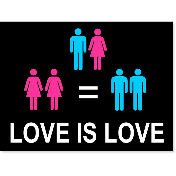 "Love is Love Yard Sign | 18"" x 24"""