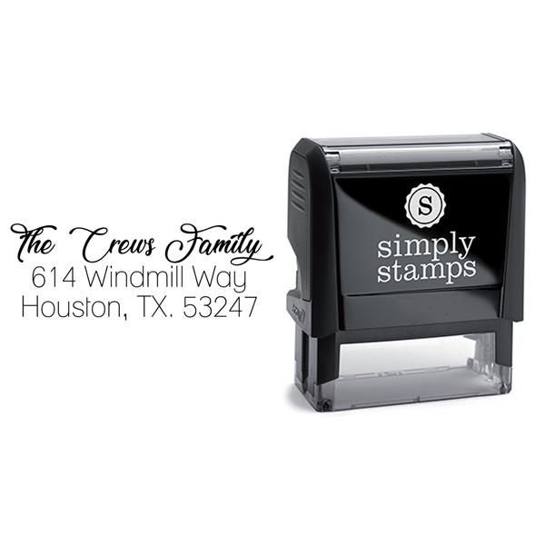 Lovely Script Custom Address Stamp