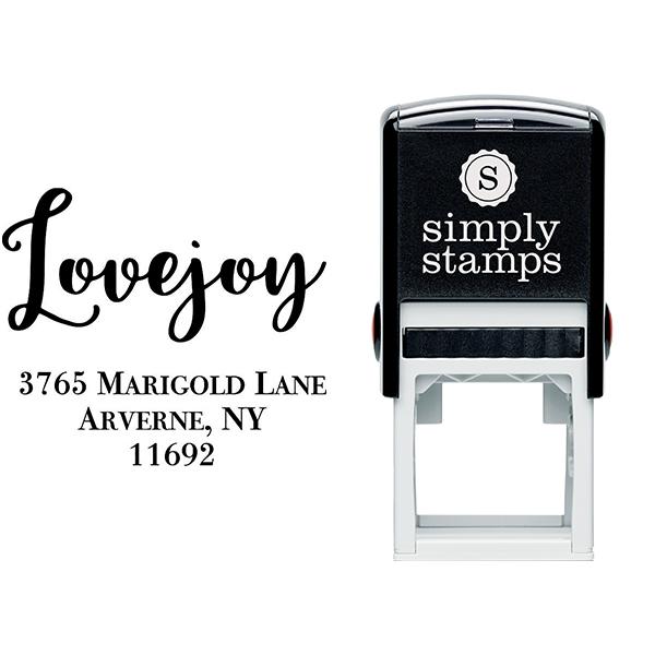 Lovejoy Script Address Stamp Body and Design