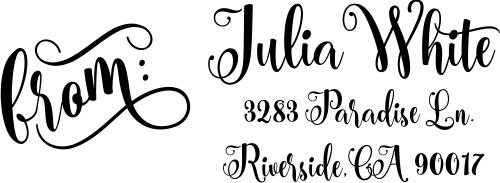 Julia Script Address Stamp