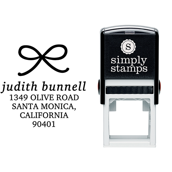 Elegant Bow Return Address Stamp Body and Design