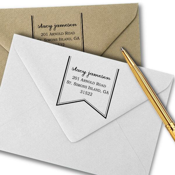 Ribbon Return Address Stamp Imprint Example