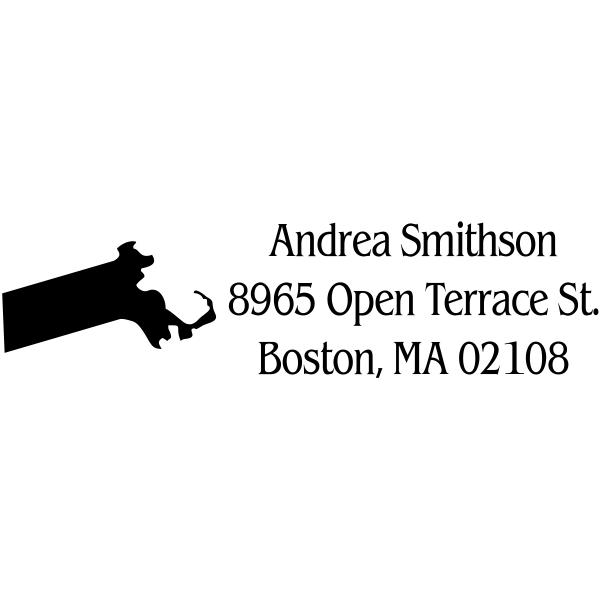 Massachusetts Custom Return Address Stamper
