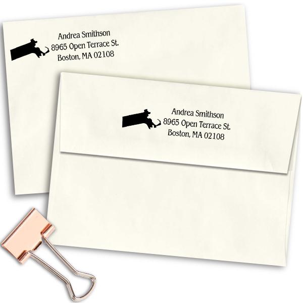 Massachusetts Return Address Stamp Imprint Example