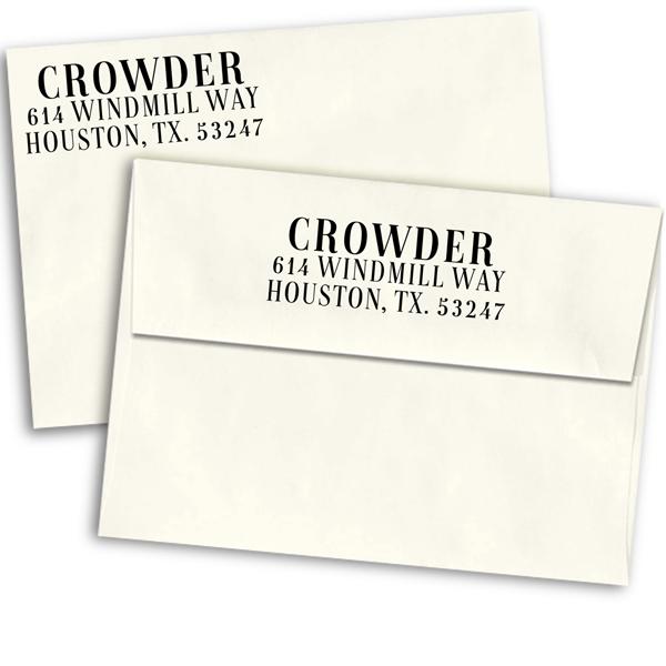 Magazine Serif Custom Address Stamp
