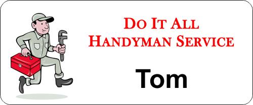 Maintenance Handy Man 3 Line Name Badge