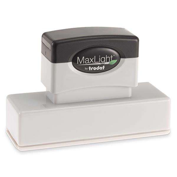 MaxLight Custom Pre-Inked Stamp - MAX-265Z -  Black Ink
