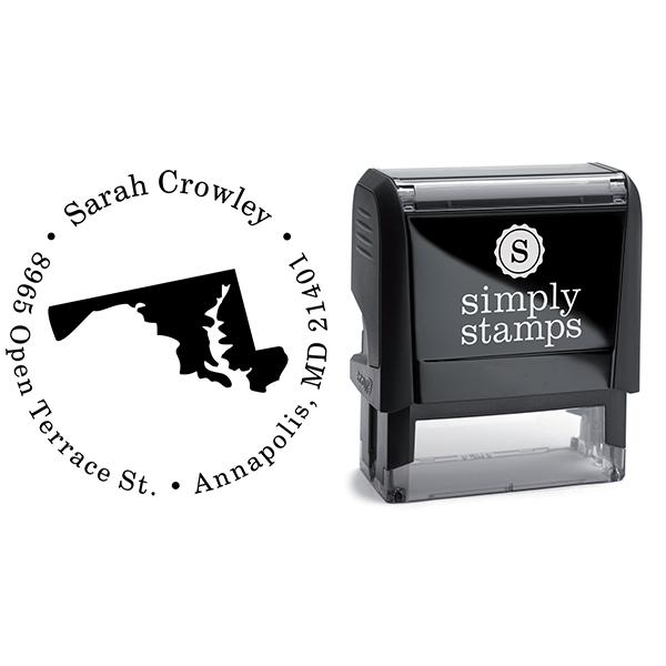 Maryland Round Address Stamp Body and Design