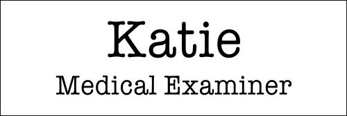Medical Examiner Halloween Costume Name Badge